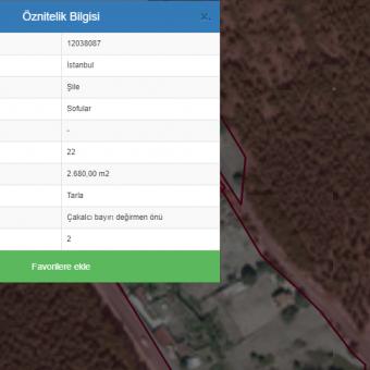 Kazaklar Gayrimenkul'den Şile sofular da satılık arazi