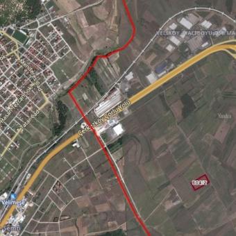 Çerkezköy Veliköy OSB 5100 m2 Satılık Sanayii Arsası