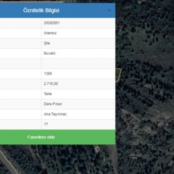 Şile Ağva Bucaklı Mah Satılık 2710 M2 Arsa