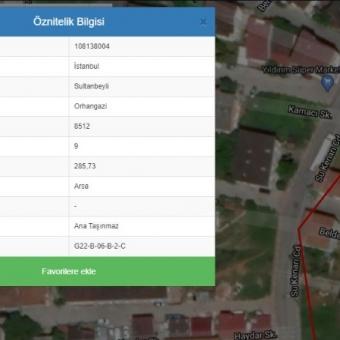 Sultanbeyli Necipfazıl Organgazi uzundere'de 286 m2 Satılık Arsa